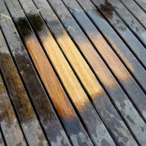 Aquanett being used on decking