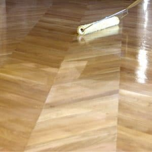 Primafloor application with a roller