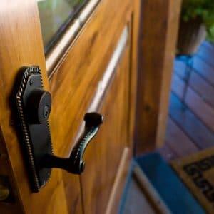 Owatrol Oil applied to metal door handle