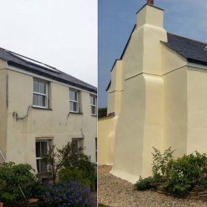 Farmhouse before & after using E-B