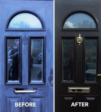 revive a composite front door with Polytrol