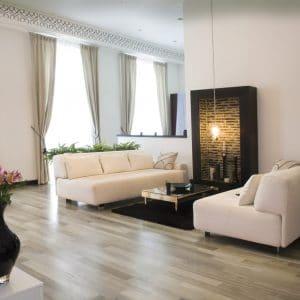 Primafloor on living room floor