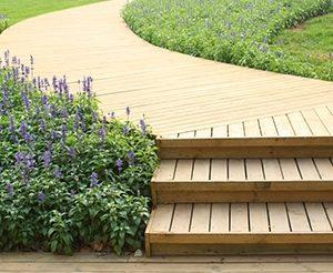 Antislip in Light Oak applied to stairs