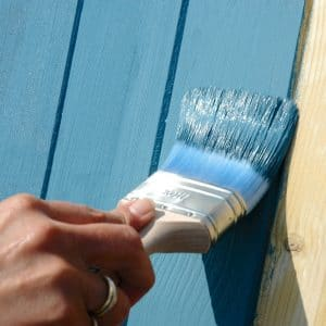 SCS being applied to cladding with a brush