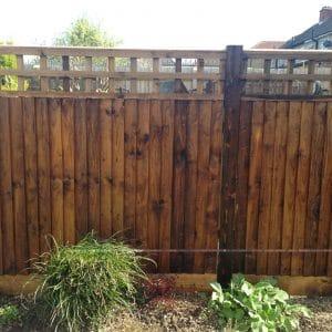 Textrol on garden fence