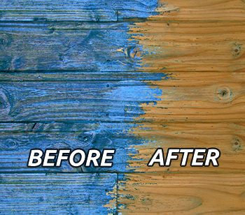Before and after paint stripping