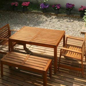 Garden furniture finished with Aquadecks