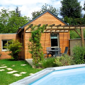 Wooden cladding finished with Aquadecks