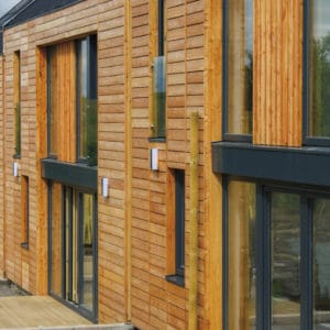 Aquadecks applied to wooden cladding