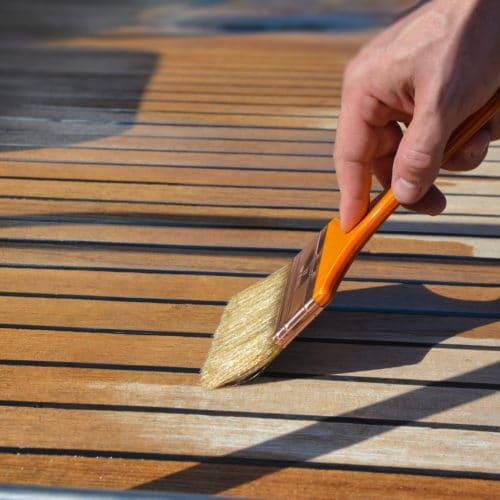 Deks Olje D1 being applied to a deck