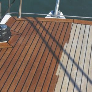 D1 being applied to a boat deck