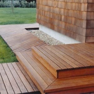 Textrol applied to decking