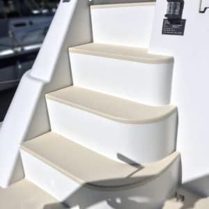 Owagrip Champagne applied to stairs