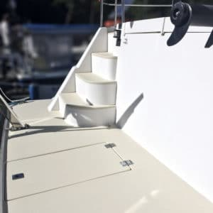 Owagrip in Champagne applied to boat deck