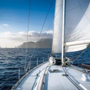 Owagrip used on a sail boat at sea