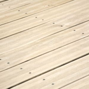 After application of Renoclear on decking