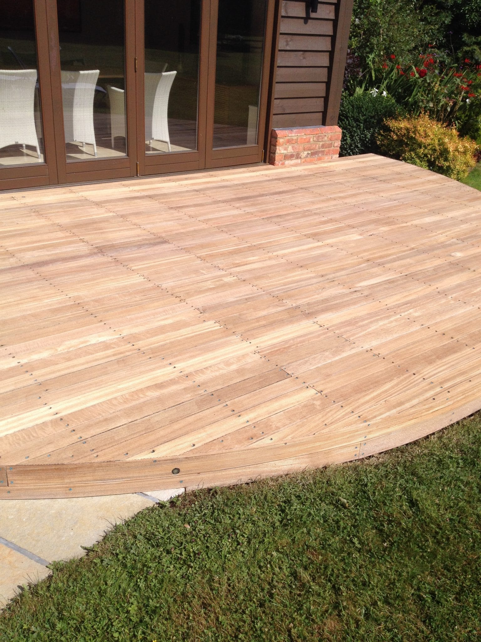 Balau decking after Net-Trol