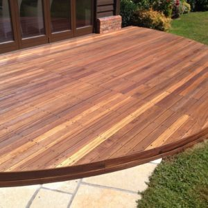 Balau decking after Textrol