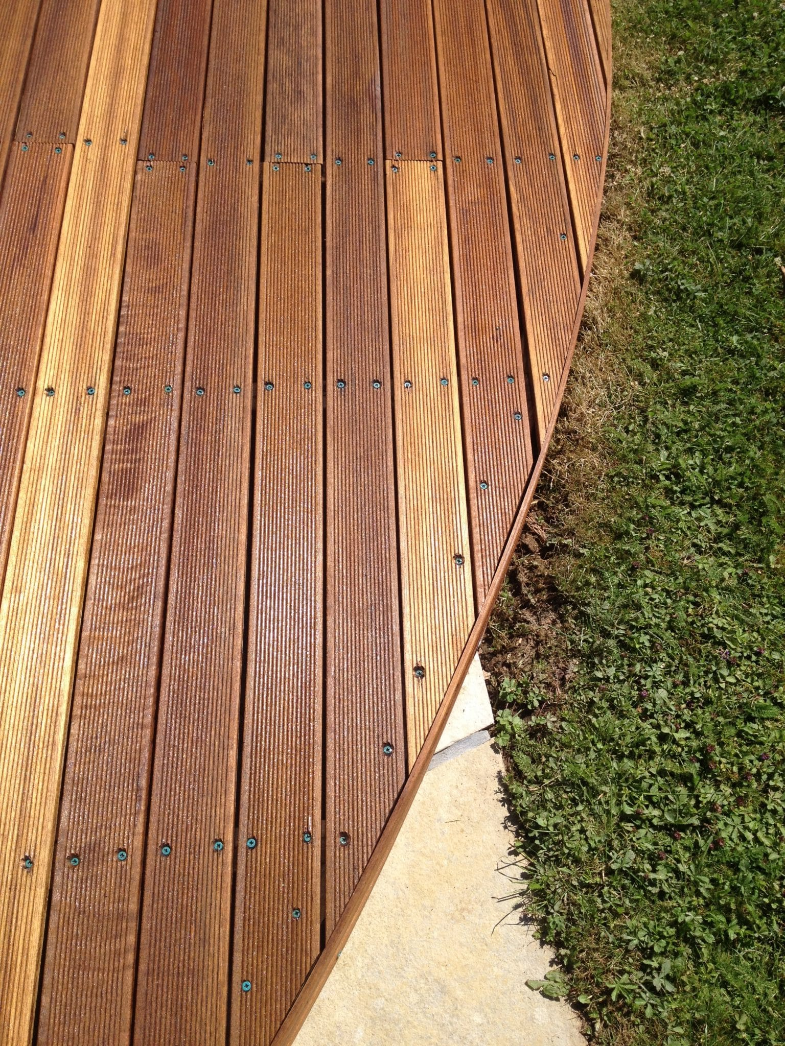 balau decking after
