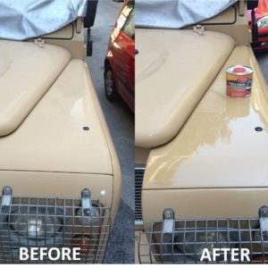 Land Rover before and after application of Polytrol