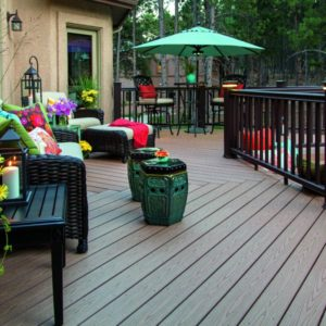 Composite wood decking