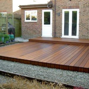 Deks Olje D1 on a garden deck