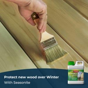 Protect new wood with Seasonite