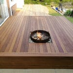 Aquadecks applied to garden deck with fire pit