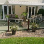 Green garden deck