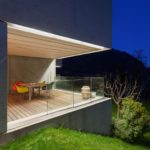 Moden garden deck with lighting