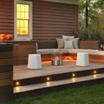 Garden decking with lights