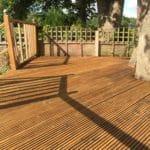 Aquadecks applied to a reeded garden deck