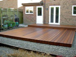 Deks Olje D1 applied to garden deck